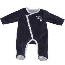 Pyjama chaud Mister Bouh bleu marine (Naissance : 50 cm)  par Sauthon