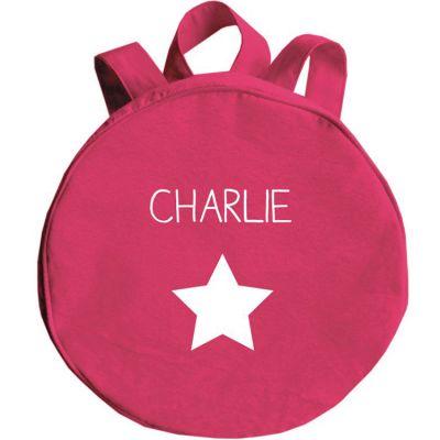 Sac à dos enfant rose grenadine (personnalisable)  par Les Griottes
