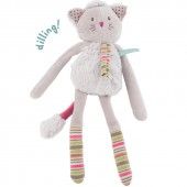 Hochet chat gris Les Pachats - Moulin Roty