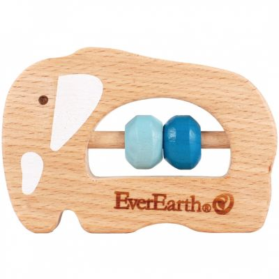 Hochet en bois éléphant  par EverEarth