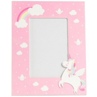 Cadre photo Betty la licorne arc-en-ciel