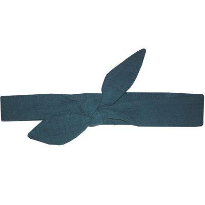 Bandeau noué bleu paon (0-5 ans)  par BB & Co