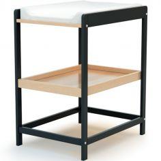 Table à langer en bois de hêtre Confort gris
