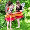 Set de déguisement fée papillon rouge  par Travis Designs