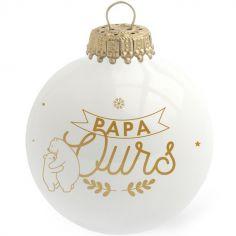 Boule de Noël Papa Ours