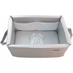 Panier de toilette gris Pur