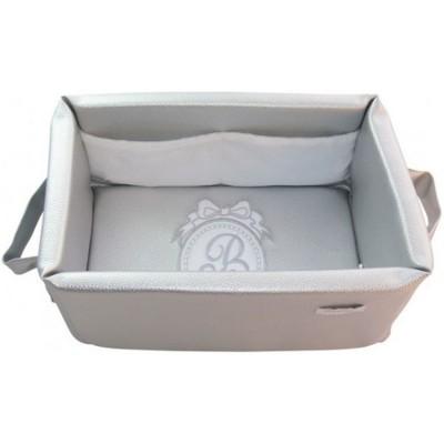 Panier de toilette gris Pur  par Nougatine