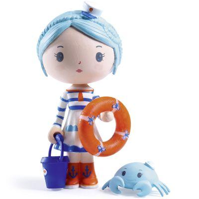 Figurine avec crabe Marinette et Scouic Tinyly  par Djeco