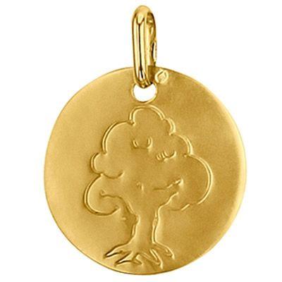 Médaille ronde Arbre de vie 16 mm (or jaune 750°)  par Premiers Bijoux