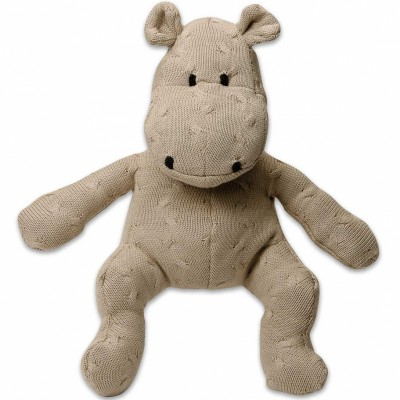 Peluche hippopotame Cable Uni beige (35 cm) Baby's Only