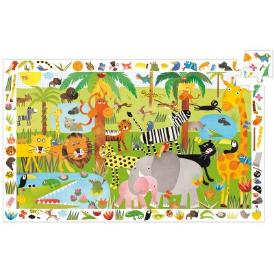 Puzzle d'observation Jungle (35 pièces)  par Djeco