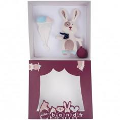Coffret doudou et peluche lapin Ballons Company