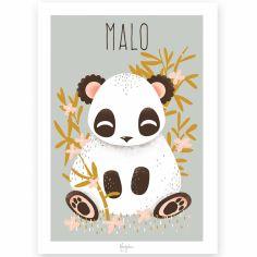 Affiche A3 Les Animignons le panda (personnalisable)