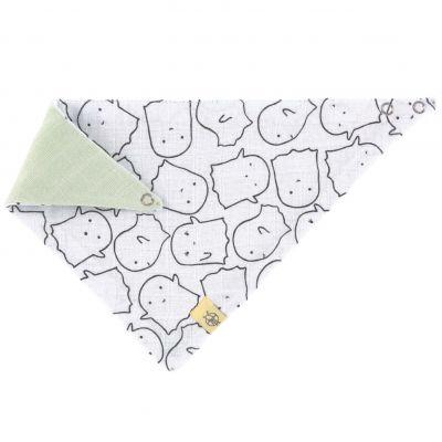 Bavoir bandana en mousseline de coton Little Spookies olive  par Lässig
