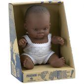 Poupée bébé garçon Africain (21 cm) - Miniland