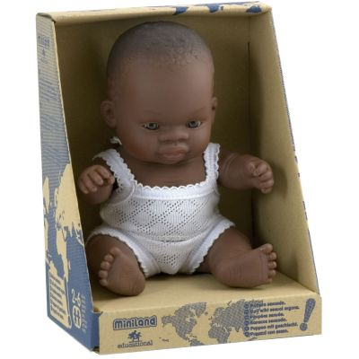 Poupée bébé garçon Africain (21 cm) Miniland