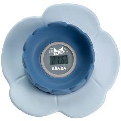 Thermomètre de bain Lotus bleu