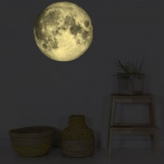 Stickers muraux phosphorescent Lune