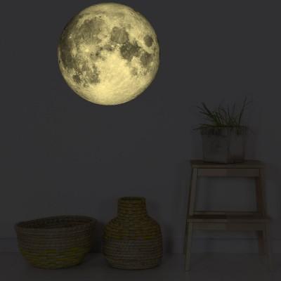Stickers muraux phosphorescent Lune  par Chispum