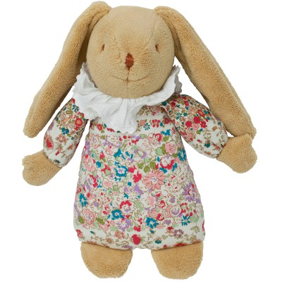Lapin musical Nid d'ange Liberty rouge (25 cm) Trousselier