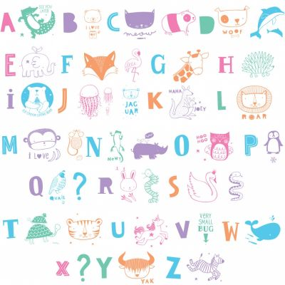 Assortiment de lettres pour lightbox ABC pastel  par A Little Lovely Company