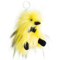 Porte clés peluche Coin Coin Ziggy jaune