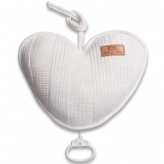 Coussin musical coeur Robust Mix blanc (26 cm)
