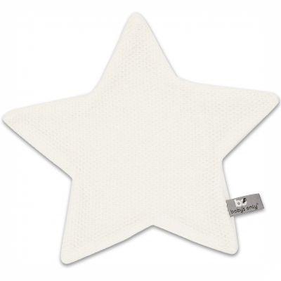 Doudou plat étoile Classic blanc ivoire (30 x 30 cm) Baby's Only