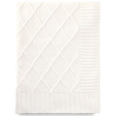 Couverture en tricot Mix & Match blanche (70 x 90 cm)  par Mamas and Papas