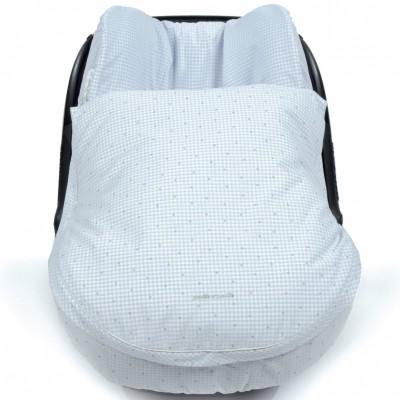 housse et couvre jambes d 39 t pour si ge auto petite etoile vichy bleu par pasito a pasito. Black Bedroom Furniture Sets. Home Design Ideas