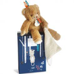 Coffret peluche avec Coffret doudou Tiwipi ours (21 cm)