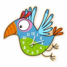 Horloge perroquet