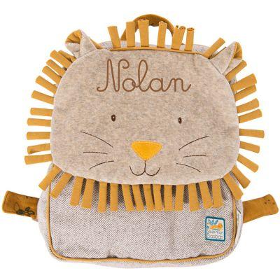 Sac à dos enfant lion Sous mon baobab (personnalisable)  par Moulin Roty