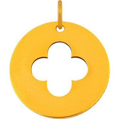Médaille croix romane et anneau (or jaune 18 carats)  par Maison La Couronne