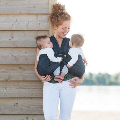 61ba6bc6678 Porte bébé pour jumeaux Twin gris   Minimonkey