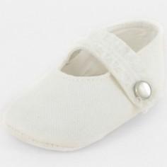 Chaussons bébé prestige ballerine Précieuse bouton nacre (6-12 mois)