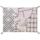 Tapis lavable indian bag gris rose (120 x 160 cm) - Lorena Canals