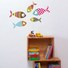 Stickers muraux Petits poissons