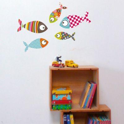 Stickers muraux Petits poissons  par Série-Golo