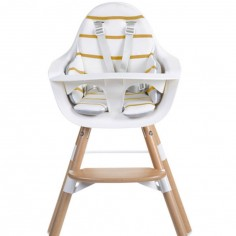Coussin de chaise haute Evolu Ochre stripes