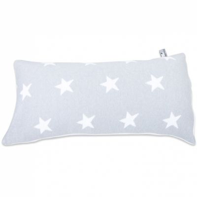 coussin star gris et blanc 30 x 60 cm par baby 39 s only. Black Bedroom Furniture Sets. Home Design Ideas