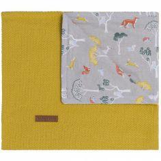 Couverture bébé Forest moutarde (70 x 95 cm)