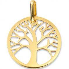 Médaille Arbre de vie ajouré (or jaune 375°)