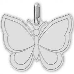 Pendentif Papillon (or blanc 750°)