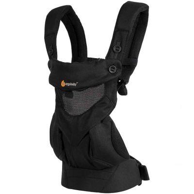 Porte bébé 360 Cool Air Mesh noir onyx (4 positions) Ergobaby