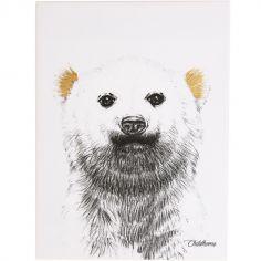 Affiche peinture ours polaire or (30 x 40 cm)