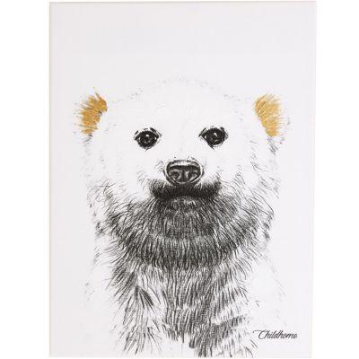 Affiche peinture ours polaire or (30 x 40 cm)  par Childhome