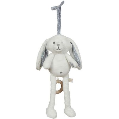 Peluche musicale lapin Adventure blue (40 cm) Little Dutch