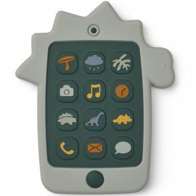 Téléphone en silicone Thomas Dino dove blue  par Liewood