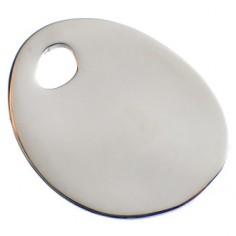 Bracelet empreinte mini galet trou sur cordon (argent 925°)